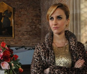 Katherine Kelly is triumphantly hanging up Becky McDonald's gold hoops as she leaves Coronation Street to pursue her stage career.