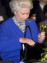 The Queen has favoured Launer handbags for many years