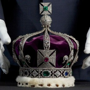 The Imperial State Crown of India, which contains over 6,000 diamonds.