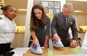On Friday Kate supported the Prince of Wales and Duchess of Cornwall on a visit to the Dulwich Picture Gallery in London. The undisputed star of the visit was Kate, who instructed Prince Charles on how to do the ironing.