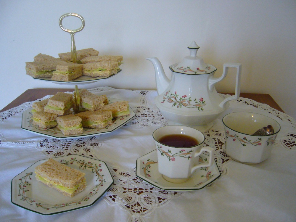 Cucumber Sandwiches for Afternoon Tea (1/6)