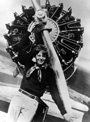 Amelia Earhart, 115 years young today.