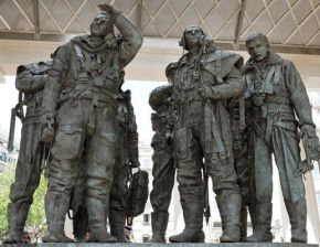close up of bomber command monument sculpture