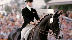 Princess Anne competing in the 1976 Olympics with Goodwill.