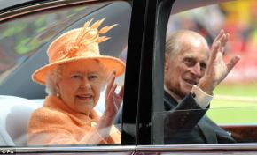 The Queen and Prince Philip touring the North East of England today.