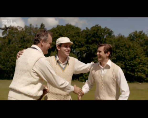 """""""Conratulations, that's a very fine cable-knit jumper you're wearing"""""""