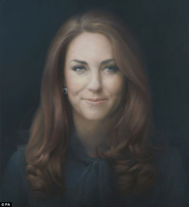 Paul Emsley's portrait of Kate Middleton, the Duchess of Cambridge