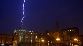 lightning strikes st peter's
