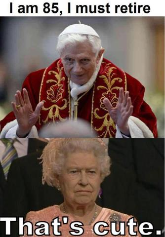 pope vs the queen