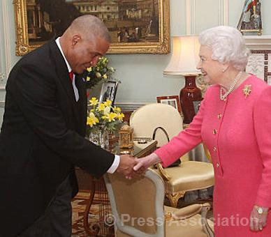 queen in pink high commissioner st lucia