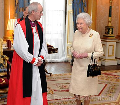 the queen with archibishop of canterbury