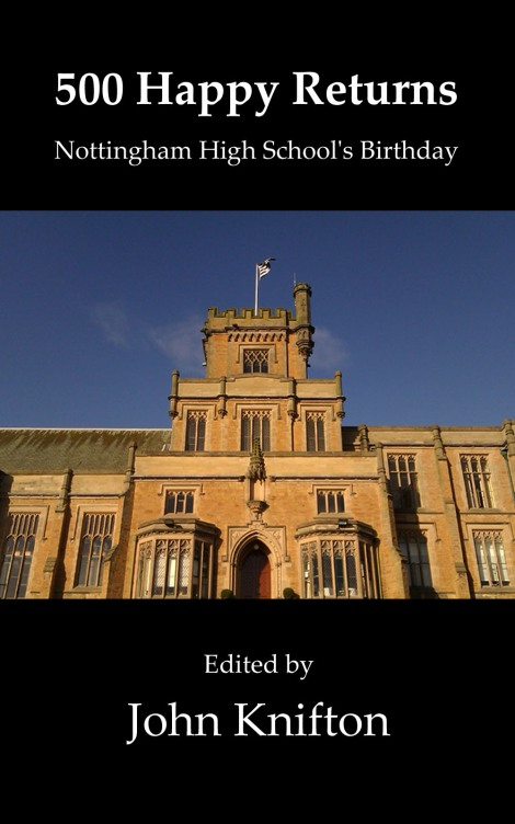 We are very pleased that the cover includes a photo by Rishabh Motiwale, a Nottingham High School boy, who took this photo of the school on the day of its 500th birthday.