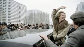 Margaret Thatcher in Moscow, 1987.