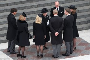 queen thatcher  comforts family