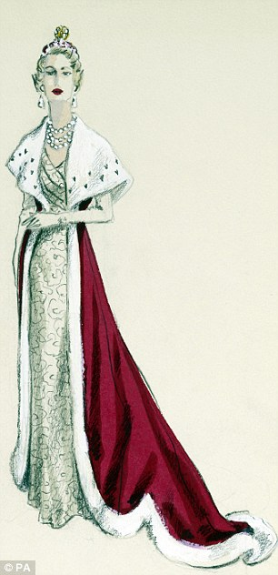 Norman Hartnell's designs for the aristocracy (front).