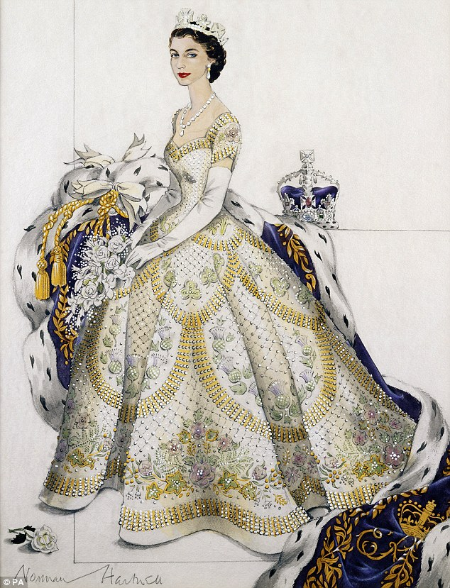 Revealed Norman Hartnells Designs Fit For A Queen The Lady In