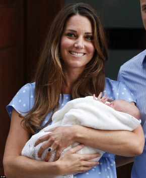 Our new Prince, accompanied by the Duchess of Cambridge, gives the public his first ever wave. Born to be King!