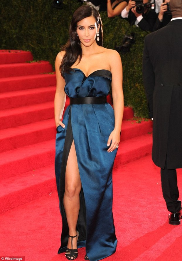 13 Kim Kardashian in hour-glass hugging Lanvin.