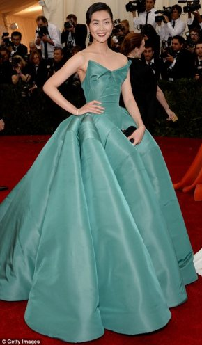 5. Liu Wen in an iconic 1950s gown.