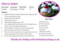 cherry cakes recipe card pic