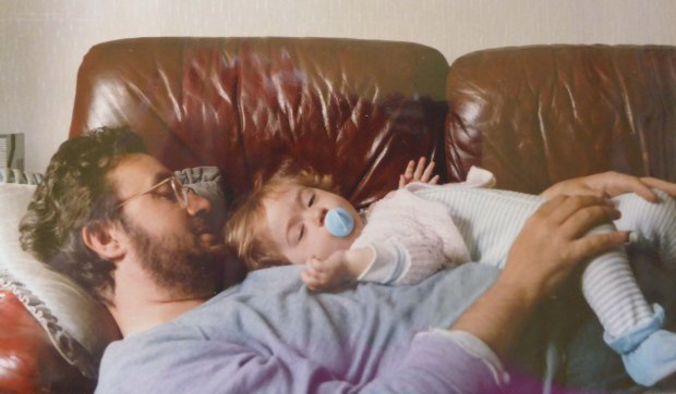Me and my Dad, tired out after taking care of each other.